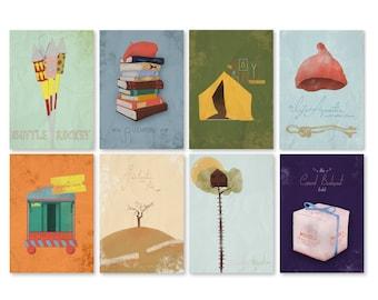 Wes Anderson A6 Postcard Set