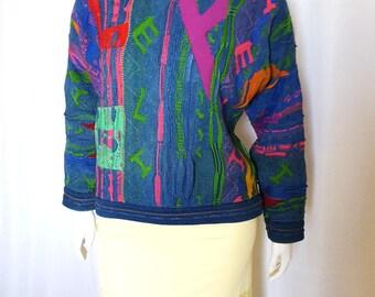 1980s Authentic Coogi Blues sweater / size L / plus sized vintage