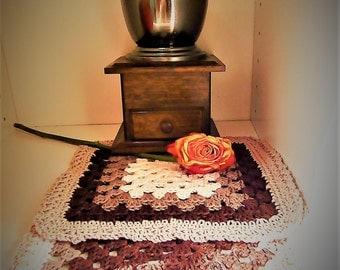 Crocheted potholders - Vintage potholders - Handcrafted dishcloth - Vintage gift - Cream potholders - Set of 2 potholders - Oven potholders