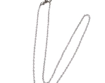 2 Rolo 24 Inch Silver Chain, Finished Necklace, Chain Necklace, Silver Chain, Long Chain, Wholesale, Adjustable Necklace, On sale