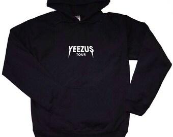 Kanye West Hoodie   Yeezus   Kanye West Hoodie   Black Pullover   Kanye Hoodie    Yeezus Tour Hoodie