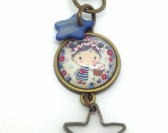 "Keyring / handbag charm bronze ""gourmet"""