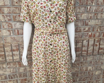 Vintage 1950's Dress with Flower Print