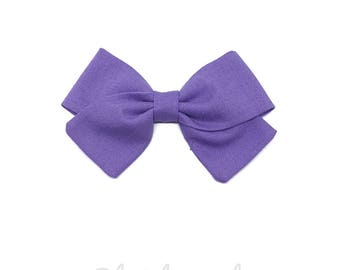 Kids hair clip or bow LILAC baby headband
