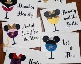 Drinking Around the World Disney Princess Shirt