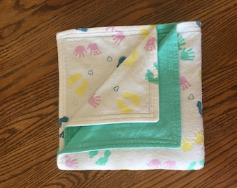 Handprints and Footprints Baby/Toddler Blanket