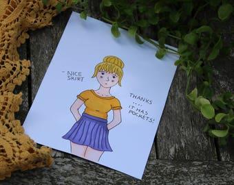 Nice skirt - Original Art