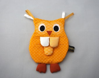 Crackle cloth OWL in yellow
