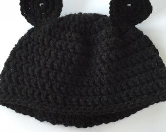mickey mouse inspired baby hat and diaper cover, crochet hat and diaper cover set