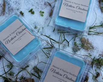 Northern Christmas Scented Soy Wax Melt | Winter Candle | Balsam Pine Handmade Wax Tart | Spiced Cranberry Scented Wax Tart | Cabin Scent