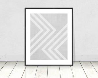 Modern Minimalist Wall Art, Geometric Print, Printable Instant Download, Scandinavian Print, Abstract Art,Mid Century Modern,Geometric Decor