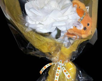 Baby boy yellow and orange bouquet