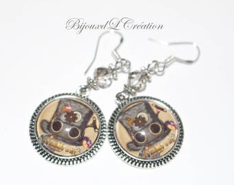 Steampunk Hat earrings