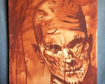 The Mummy Acrylic Painting
