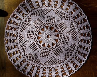 Round doily, 35 cm, Rose, hand-made crochet
