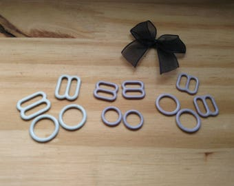 set of 6 strips of settings and 6 rings for lingerie and BRA support