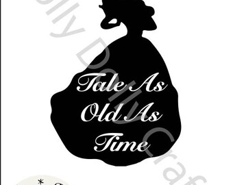 Belle Tale As Old As Time Silhouette SVG