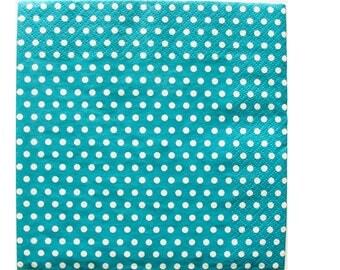 Set of 3 napkins HOD091 dots background turquoise