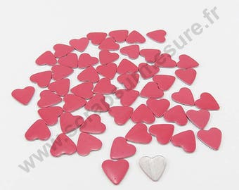Thermo - Pink - 8mm - x 50pcs heart