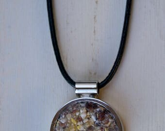 Silver Corn Necklace  - ZHarvest Gems - Unique handcrafted pendant made with corn.