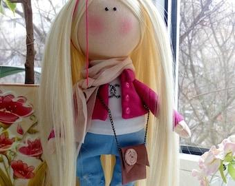 Decor doll Tilda doll Birthday doll Interior doll handmade doll Rag doll Soft doll