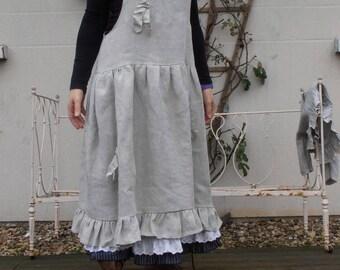 natural linen long dress