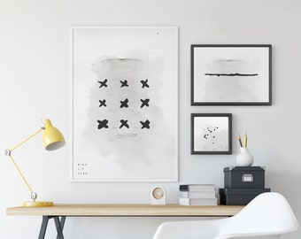X's wall print, 24x36