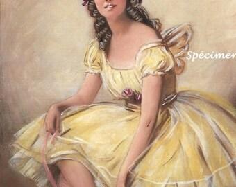 Picture portrait retro woman - Show portrait retro woman - Post portrait retro woman - retro wall decoration - ADELINE -