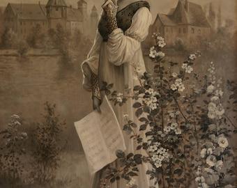 Hortense de Beauharnais (likely), Oil Painting by Jules Delaroche