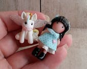 Miniature doll and Unicorn