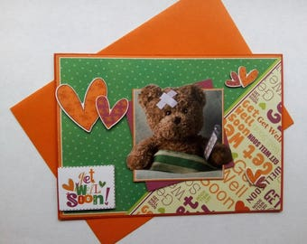 Brown Teddy bear card