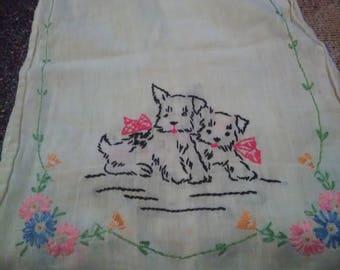 Vintage Cross stitch Doily/ Runner