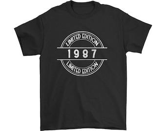 1987 Limited Edition Shirt, 30th Birthday Shirt, Turning 30, Born in 1987, Birthday Gift for Men Ladies, Milestone, Custom Birthday Shirt