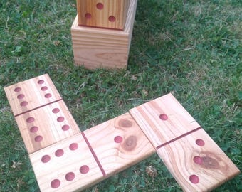 Dominoes Giants/Giants wooden dominoes.  Made in France