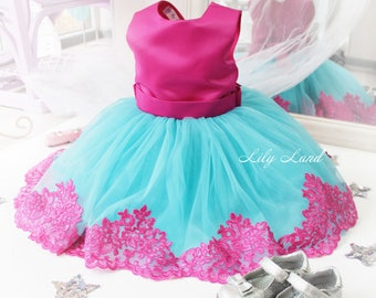 Girl dress blue red tutu dress girls tutu dress for baby tutu dress kids tutu dress toddler girl dress size 1 2 3 4 5 6 7 8 9 10 24 mounth