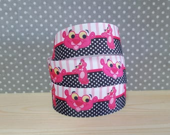 1 meter of Ribbon Gros Grain Pink Panther