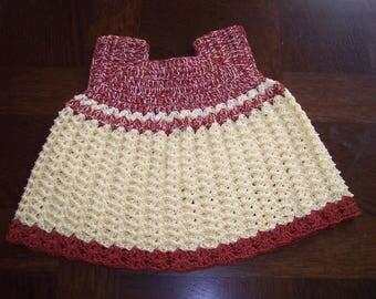 3/6 months crochet baby dress
