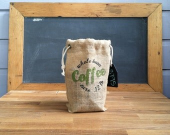 Reusable Burlap Coffee bag