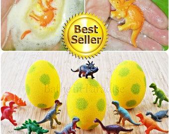 Dino Egg Bath Bomb | Dinosaur Inside | Children's Toy | Jumbo 3.2 Inch | Kids Surprise Fizzy