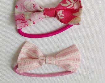 Floral bow tie - bow tie elastic
