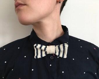 Moose knit sailor, sailor bow, bow accessory man or woman