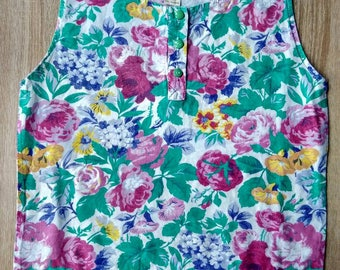 Floral tank top, cotton