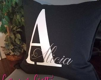 Custom Name & initial pillow