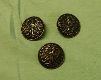 3 buttons metal 2.20 cm wide