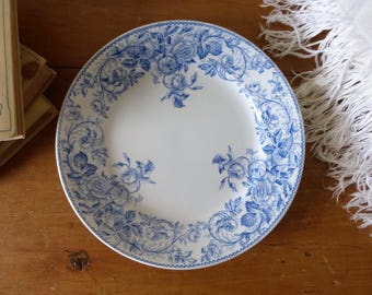 RESERVED FOR Han-Ni -- Assiette Orpheline vintage Lunéville / Old French Plate from Lunéville factory