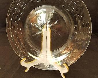 """Set of 8 Antique Cut Glass 8"""" plates"""