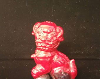 Royal Doulton Flambe Dog of Fo Figurine Foo Dog Collector's Club