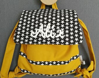 Customizable backpack mustard yellow and Black 2/5 years