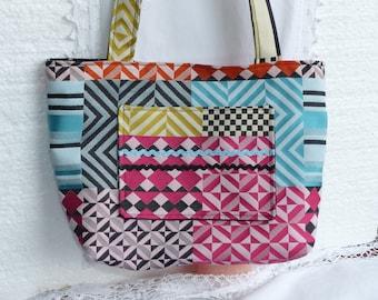 Colorful Jacquard fabric purse
