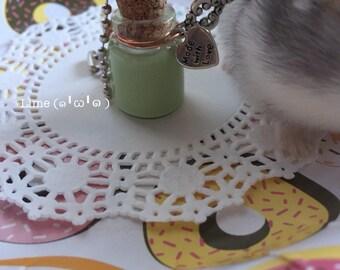 Slime Bottle Necklace/Keychain (Lime)